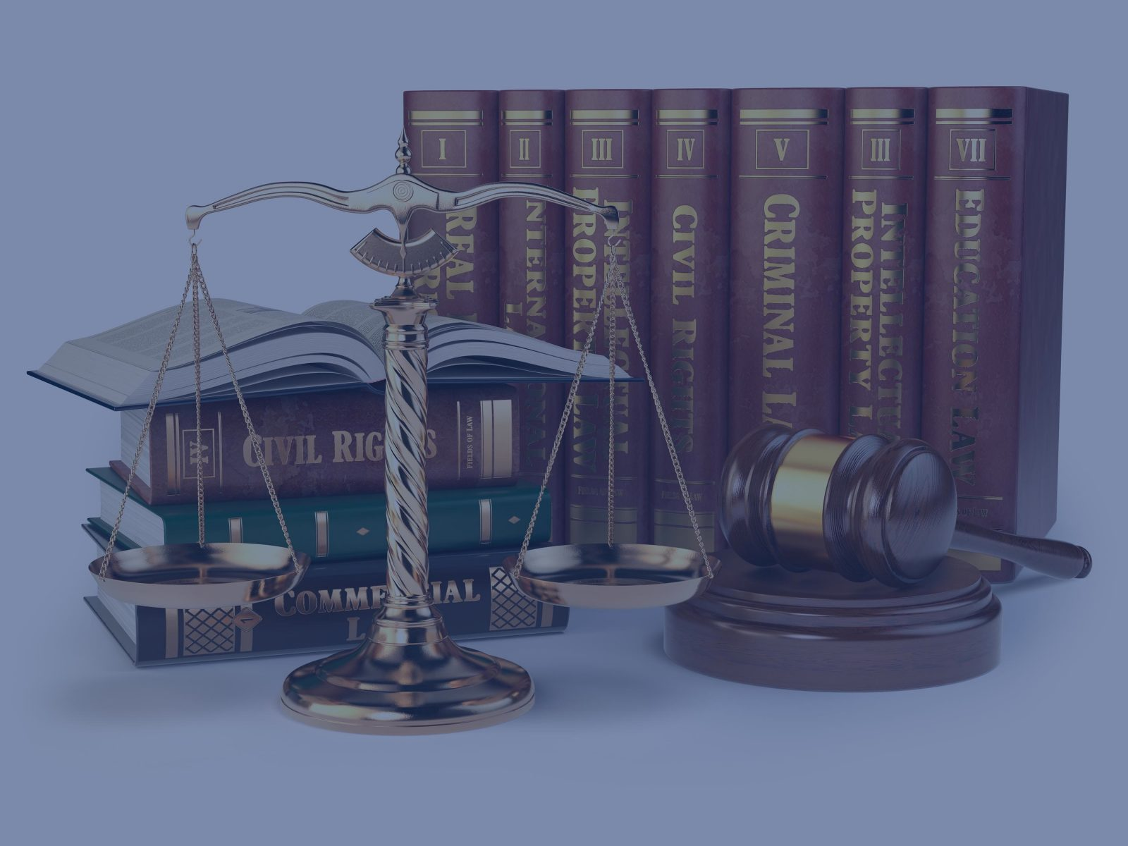 Books and legal paraphernalia